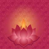 Lotus lamp background Stock Image