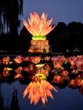 The lotus lamp7 Stock Photo