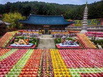 Lotus Lantern Festival in Samgwangsa Temple, Busan, South Korea, Asia. When May-15-2018 royalty free stock photo