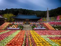 Lotus Lantern Festival in Samgwangsa Temple, Busan, South Korea, Asia. When May-15-2018 stock image