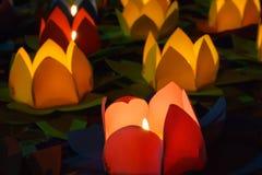 Lotus lanterns Stock Photography