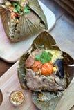 Lotus Leaf Rice Foto de archivo libre de regalías