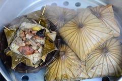Lotus Leaf Rice Wraps Imagenes de archivo
