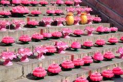 Lotus-lichten Royalty-vrije Stock Afbeelding