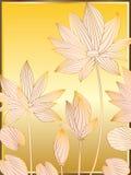 Lotus Line Card Imagen de archivo
