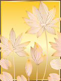 Lotus Line Card Stock Image
