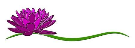 Lotus Logo ilustración del vector