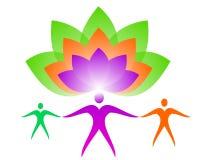 Lotus Logo Harmoniefamilie vector illustratie