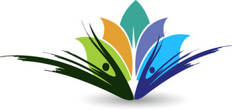 Lotus logo. Illustration art of a lotus logo with  background Stock Photography