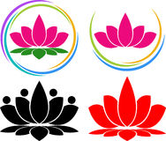 Lotus logo. Illustration art of a lotus logo with isolated background Royalty Free Stock Images