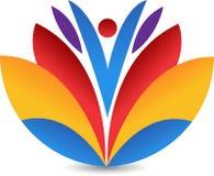 Lotus logo. Illustration drawing art a lotus logo with white background Stock Photo