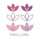 Lotus Logo, logo del fiore di Lotus Immagine Stock