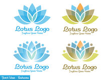 Lotus logo. Modern and simple logo inspirations from lotus flower Royalty Free Illustration