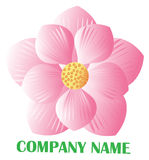 Lotus logo. Pink lotus flower on white background Royalty Free Stock Photography