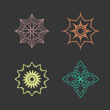 Lotus logo vector design icon Stock Photos