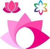 Lotus logo. Vector illustration of lotus flower logo Royalty Free Stock Images