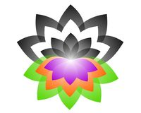 Lotus Logo yin yang stock illustrationer