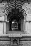 Lotus  Mahal Archway. The Zenana enclosure was a secluded area reserved for the royal women Royalty Free Stock Images