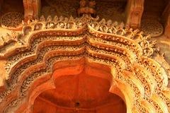 Highly ornate archway of Lotus Mahal, otherwise called the Kamal Mahal or Chitragani Mahal, Hampi, Karnataka, India. Lotus Mahal designed as a palace for royal Stock Photo