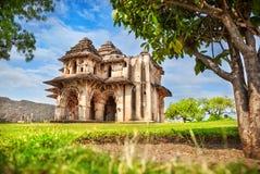 Lotus Mahal in Hampi. Lotus Mahal in royal center at blue sky in Hampi, Karnataka, India stock images