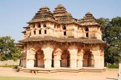 Lotus Mahal palace ruins of Royal Centre at Hampi Stock Photos