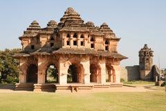 Lotus Mahal palace ruins of Royal Centre at Hampi Stock Image