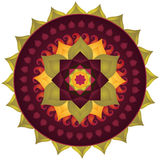 Lotus Mandala. With Paisley (vegetable motif similar to half of the Yin Yang symbol