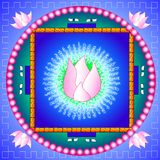 Lotus Mandala. Mandala with lotus flower represents purity and new beginnings royalty free illustration