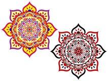 Lotus Mandala Set Immagine Stock