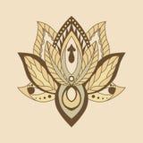 Lotus Mandala Vektor dekoratives Lotus, ethnisches zentang Verzierung Stockbild