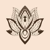 Lotus Mandala Vettore Lotus ornamentale, zentang etnico Fotografia Stock Libera da Diritti