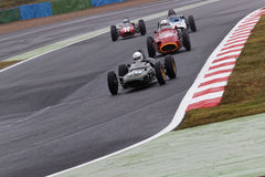 Lotus 21 and Maserati 250F during Masters race Stock Image