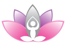 Lotus meditation Royalty Free Stock Images