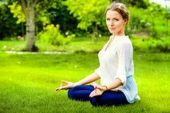 Lotus meditation Stock Photo