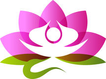Lotus meditation Stock Image