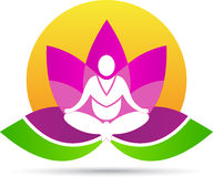 Lotus meditation yoga. A vector drawing represents lotus meditation yoga design Royalty Free Stock Images