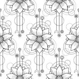 Lotus Modern Seamless Pattern Royalty-vrije Stock Fotografie