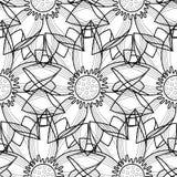 Lotus Modern Seamless Pattern Royalty-vrije Stock Afbeelding