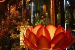 Lotus no templo Imagem de Stock