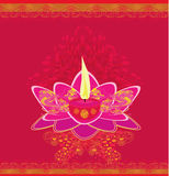 Lotus Oil Lamp illustration stock