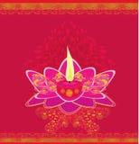 Lotus Oil Lamp. Illustration Royalty Free Stock Photography