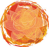 Lotus on orange background Royalty Free Stock Photography