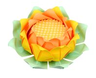 Lotus origami Royalty Free Stock Images