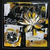 Lotus Original Painting Illustration Modern Stock Fotografie