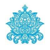 Lotus Ornament - corte del laser de madera Imagenes de archivo