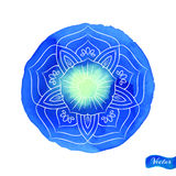 Lotus Outlines On Blue Image libre de droits
