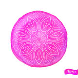 Lotus Outlines On Pink Fotografia Stock Libera da Diritti
