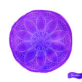 Lotus Outlines On Violet Lizenzfreies Stockbild