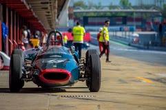 Lotus 1821 P2 in circuito de Barcellona, Catalogna, Spagna immagini stock libere da diritti