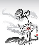 Lotus painting 2 stock illustration